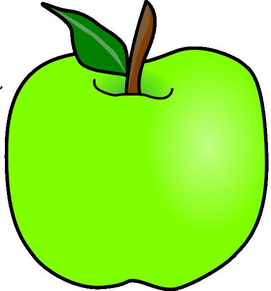 552x594 Green Delicious Apple Clip Art