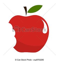 236x243 Half Eaten Apple Click Here Clipart