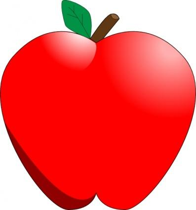 397x425 One Apple Clipart