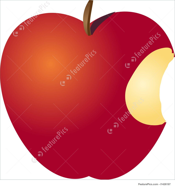 1271x1360 Picture Of Bitten Apple