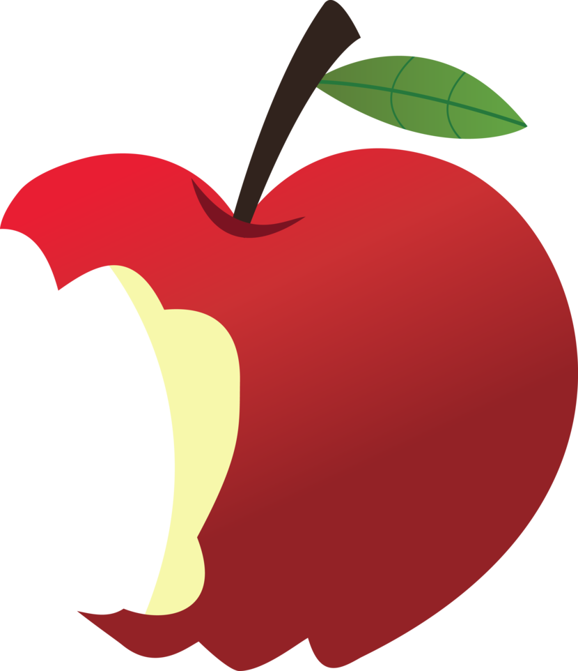 830x962 Apple Bitten Clipart