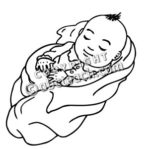 Black And White Baby Clipart Free Download Best Black And White