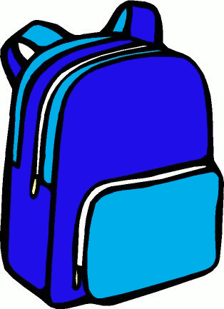 314x433 Open Backpack Clipart