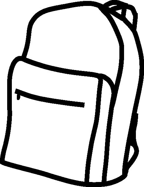 462x598 Plain White Backpack Clip Art