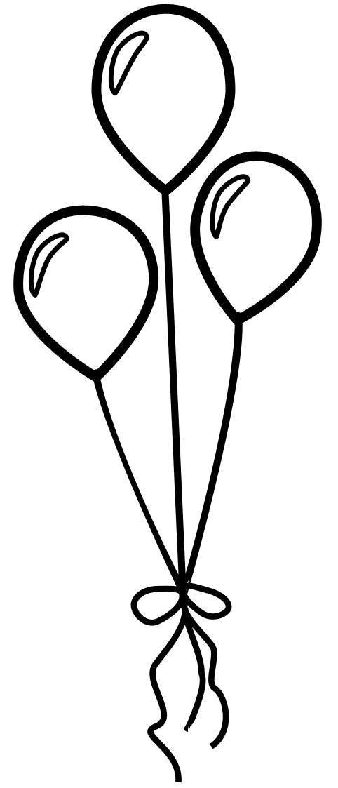 482x1123 Clip Art Black And White Heart Balloon Clipart