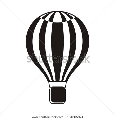 450x470 Hot Air Balloon Clipart Silhouette