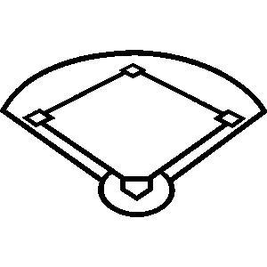 Black And White Baseball Diamond Clipart