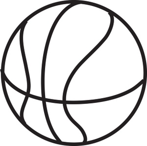 300x298 Basketball Clipart Black And White Free