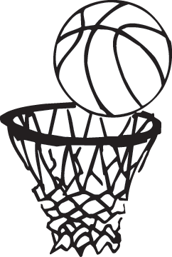 Black And White Basketball Clipart | Free download best ...