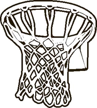 315x350 Basketball Net Black And White Clipart