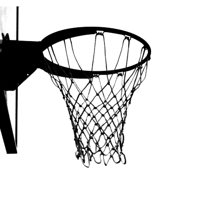 400x400 Black And White Basketball Hoop Transparent Png