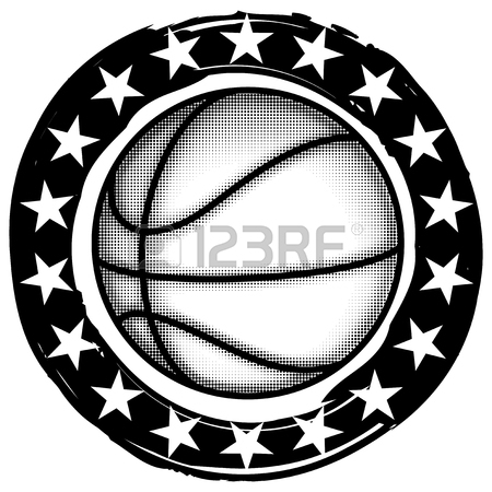 450x450 Abstract Vector Illustration Black And White Basketball Ball
