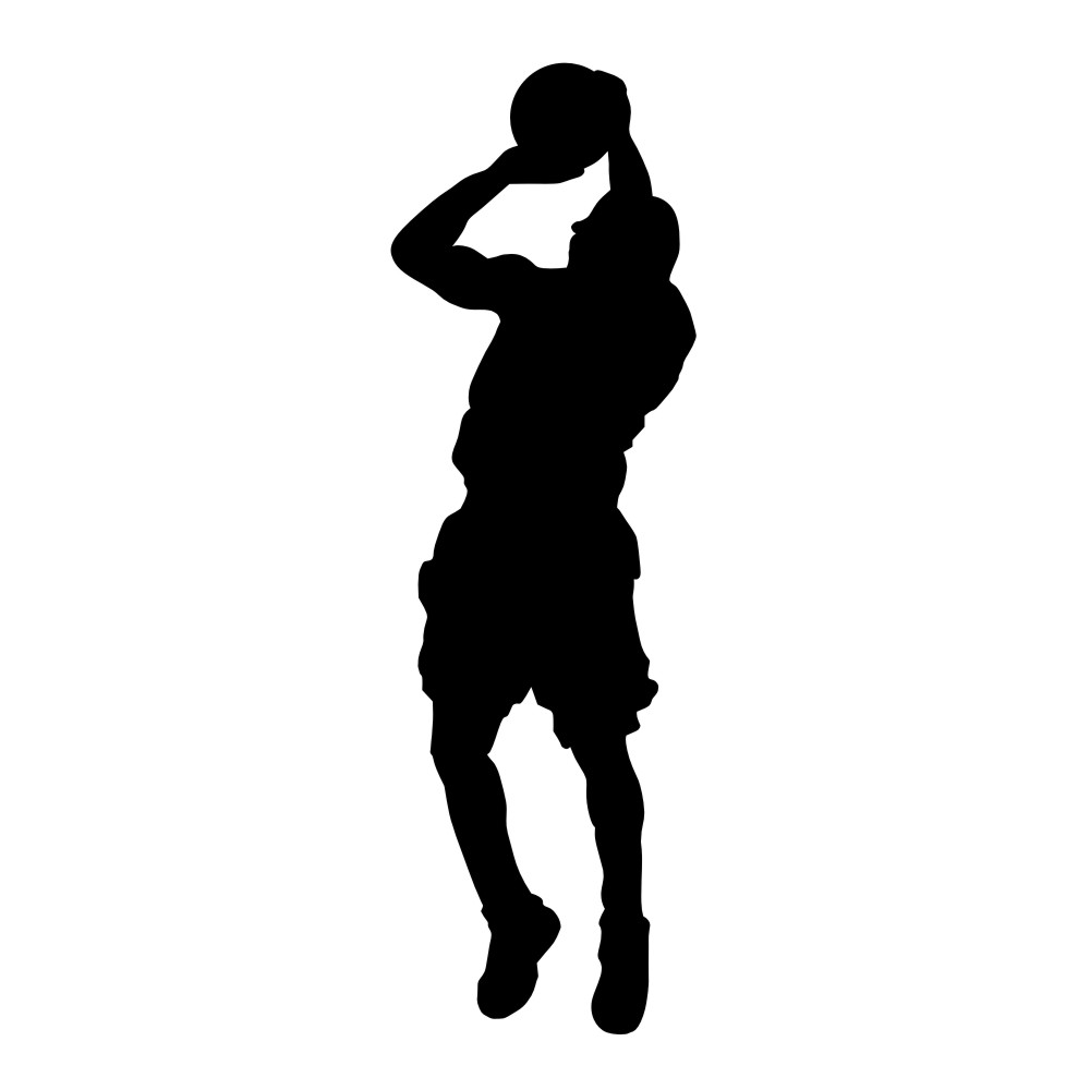 1000x1000 Tall Basketball Players Clipart