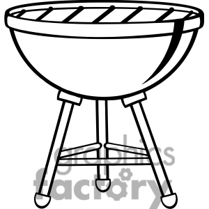 300x300 Black And White Bbq Clipart Clipart Panda