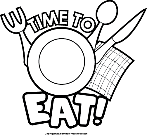 503x462 Breakfast Clipart Black And White