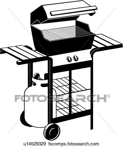 394x470 Clip Art Of , Appliance, Bbq, Gas Grill, Propane, U14529329