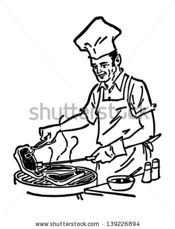 360x470 Barbecue Clipart Black And White