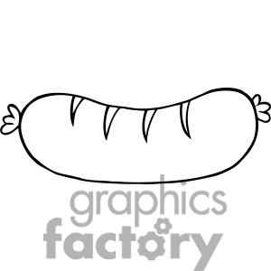 300x300 Sausage Clipart Black And White