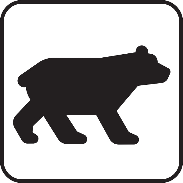 Black And White Bear Clipart