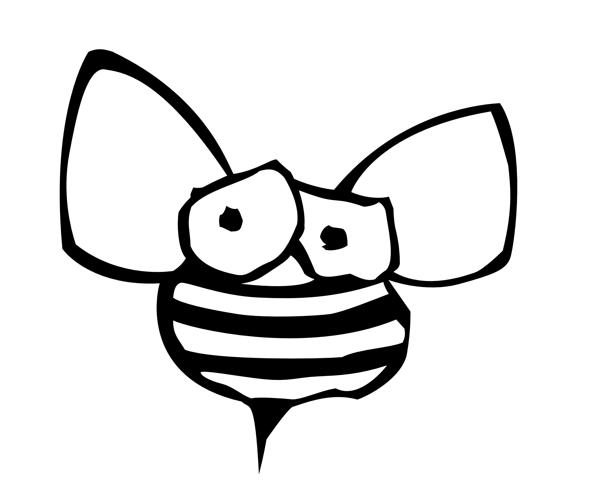 1969x1627 Bee Black And White Bee Clipart Black And White Free Images 2