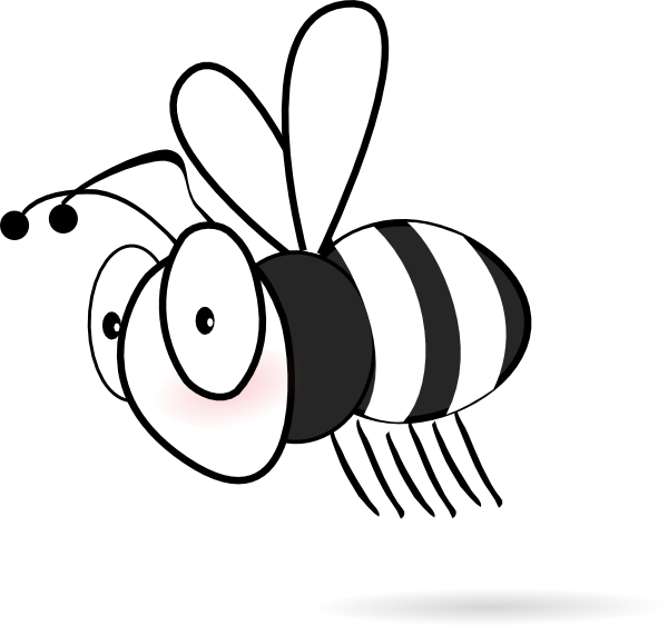600x563 Black And White Bee Clip Art