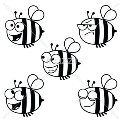 400x400 Clipart Bees Black And White Bee Clipart Black And White Clipart