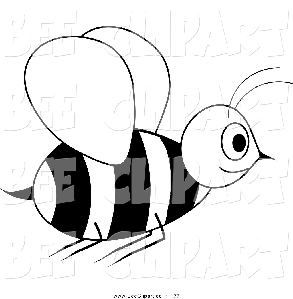 1024x1044 Vector Clip Art Of A Smiling Black And White Wasp In Flight By