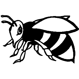 300x300 Wasp Clipart Black And White