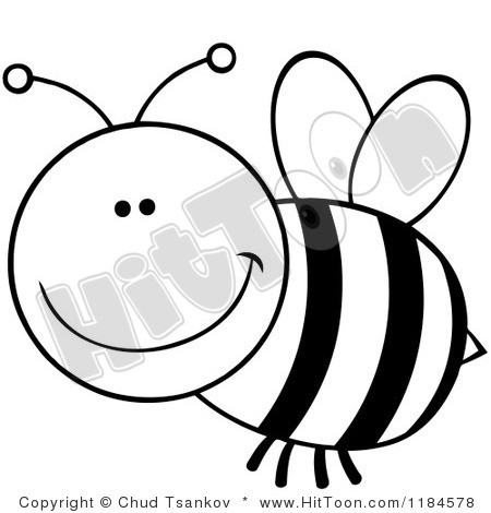 450x470 Bee Clipart Black And White 1184578 Cartoon Of A Black And White