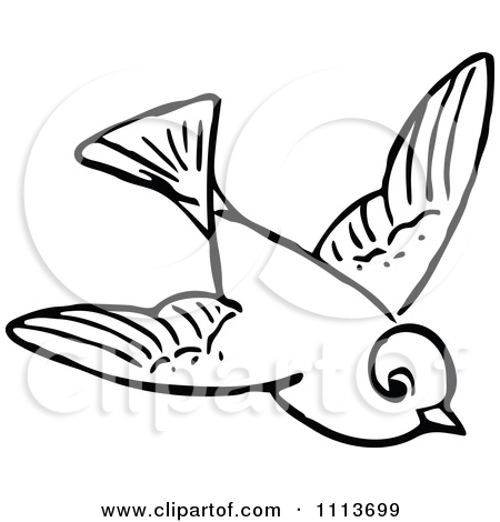 Flying bird clip art black and white think, that