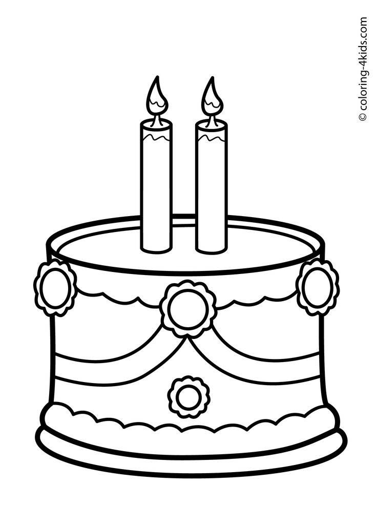 Black And White Birthday Cake Clipart Free download best Black And