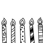 150x150 Candle Black And White Clipart Candle Black And White Birthday