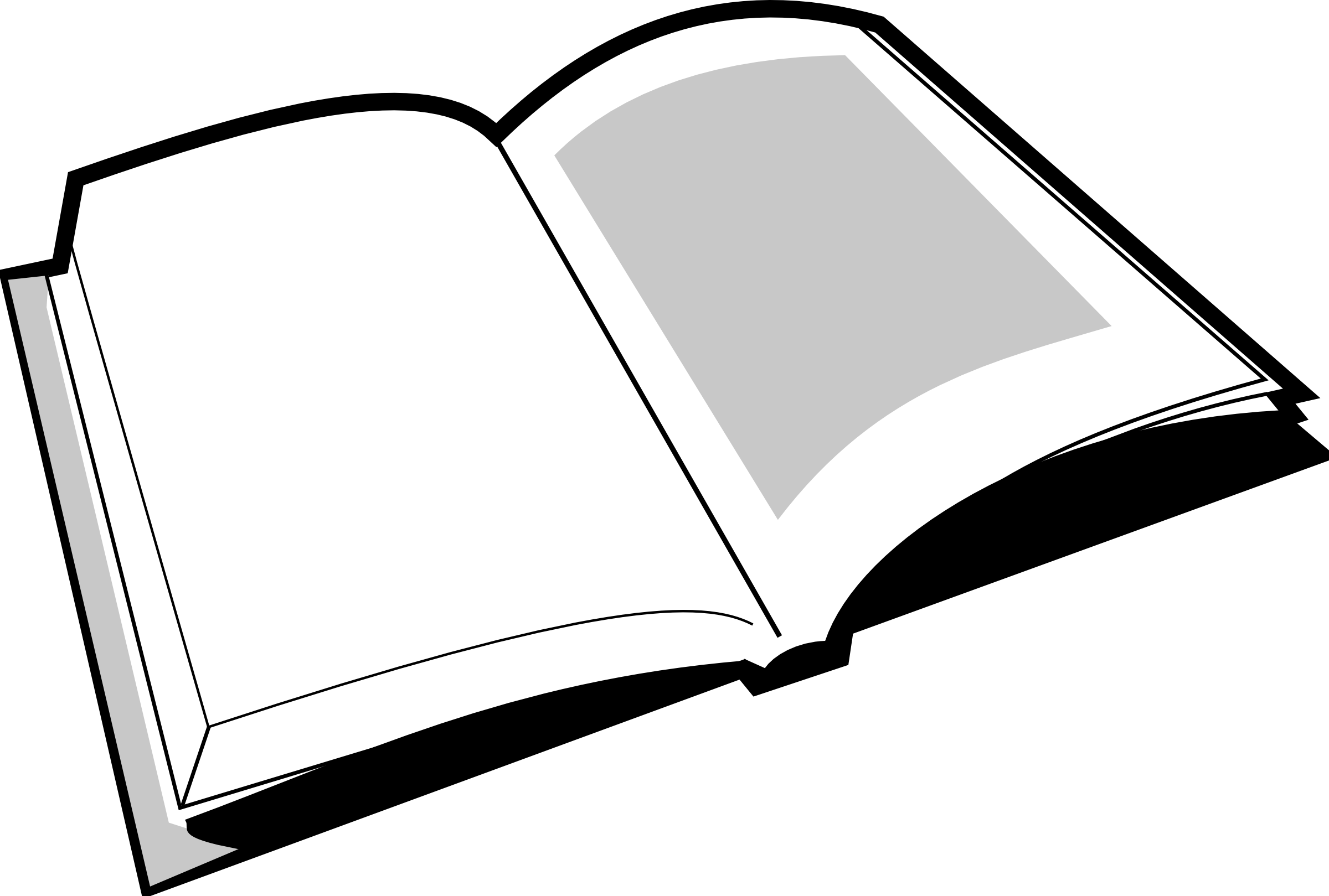 Black And White Book Clipart