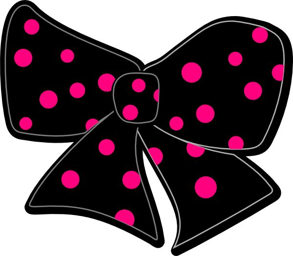 Black And White Bow Clipart