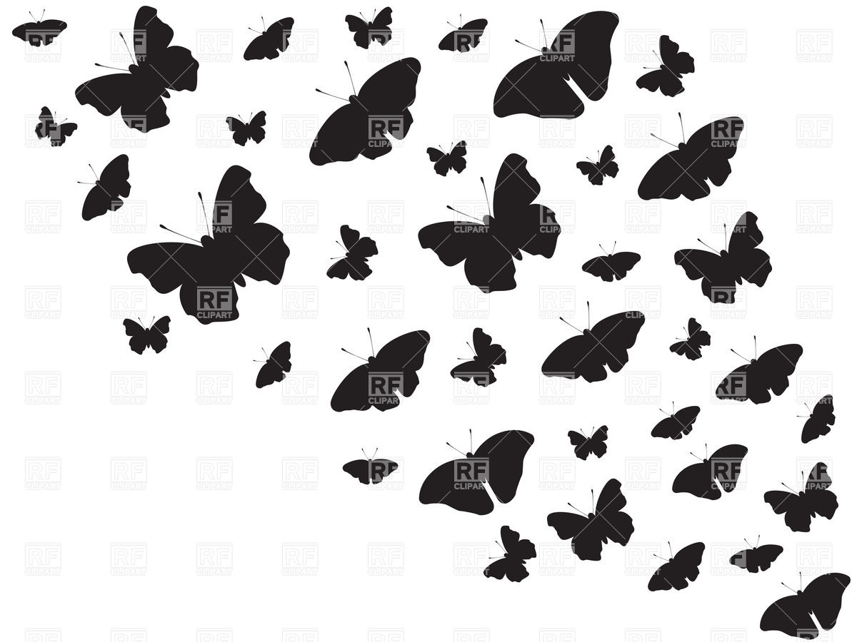 1200x900 Butterfly Clipart Black Background