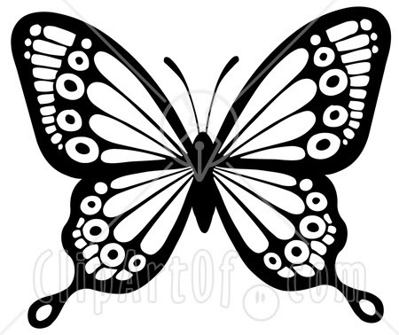 450x378 Butterfly Clipart In Black And White 101 Clip Art