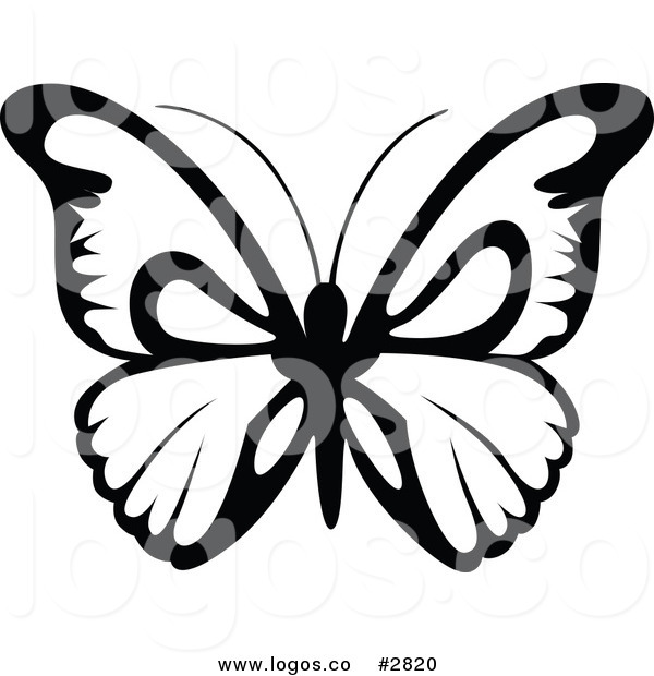 600x620 Royalty Free Stock Logo Designs Of Black And White Butterflies