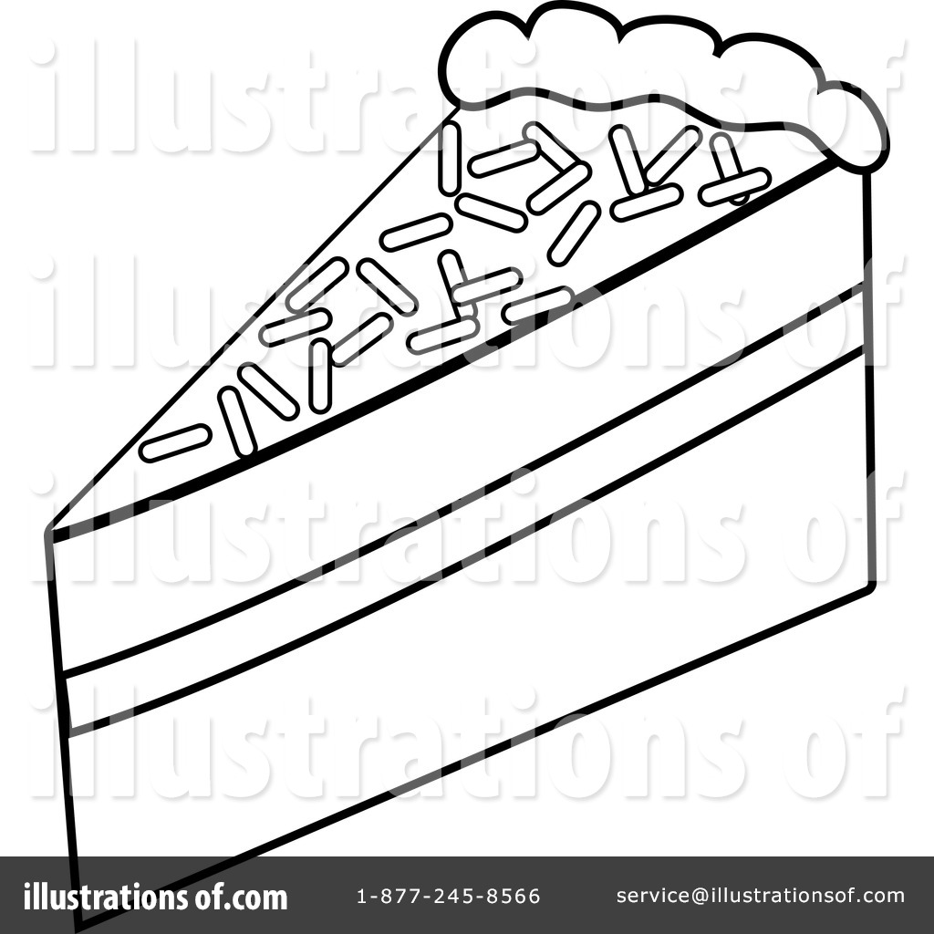 Black And White Cake Clipart | Free download best Black And White ... for Drawing Cake Slice  183qdu