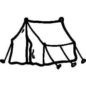 Black And White Campfire Clipart