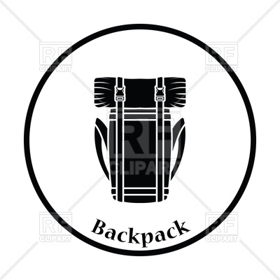 400x400 Camping Backpack Icon Royalty Free Vector Clip Art Image