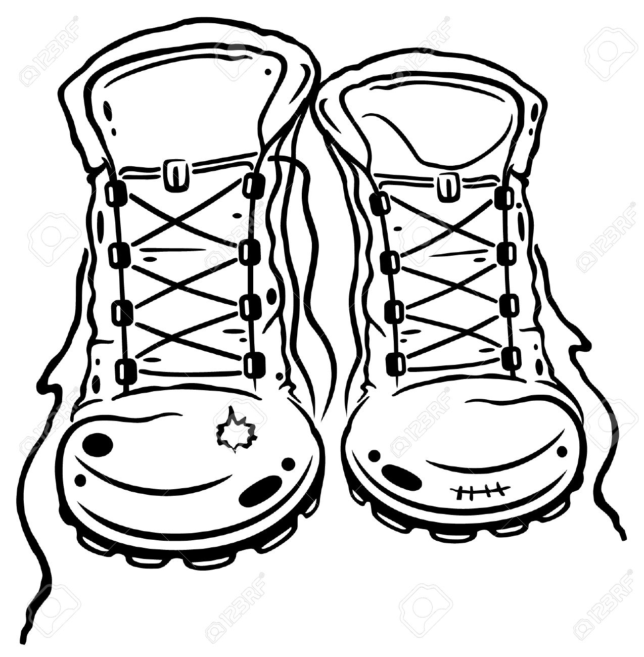 1274x1300 Camping Clipart Walking Boot