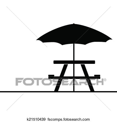 450x470 Clip Art Of Camping And Picnic Table Icon Vector K21510439