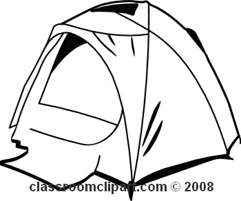 350x292 Black And White Camping Clipart