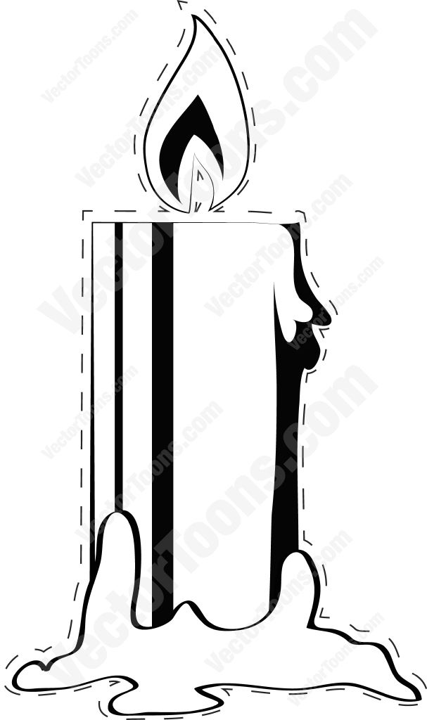 607x1024 Burning Candle With Dotted Outline Burning Candle