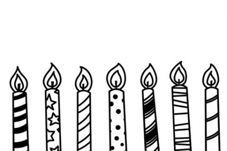 450x300 Candle Black And White Clipart Candle Black And White Birthday