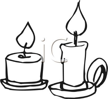 350x320 Melting Candle Clipart Lit Candle