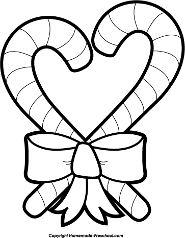 363x466 Candy Cane Clip Art Black And White