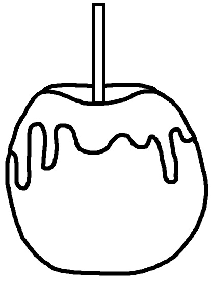 414x551 Candy Black And White Candy Apple Clipart Black And White