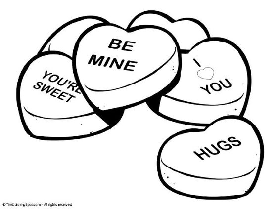 564x423 Candy Hearts Clip Art