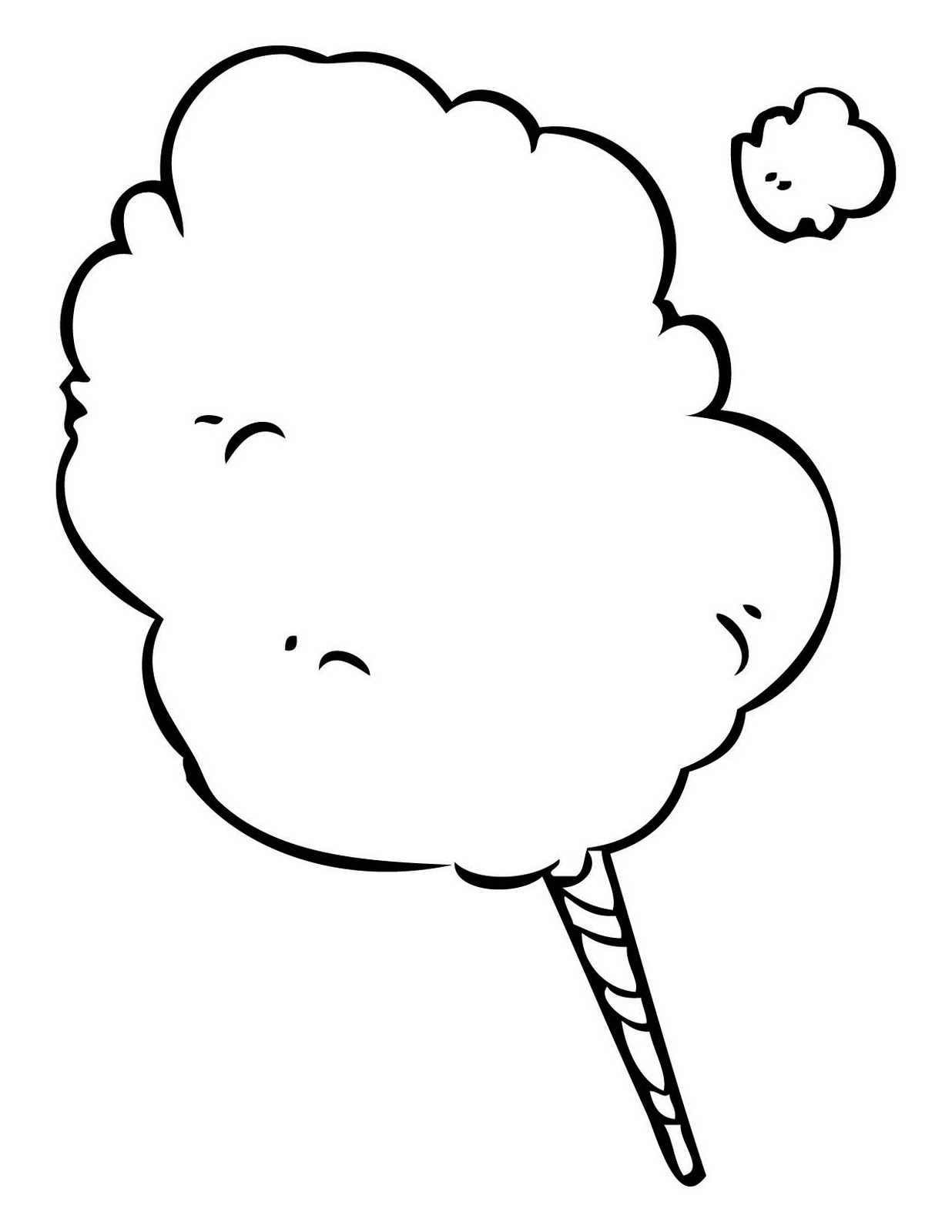 1236x1600 White Cotton Candy Clipart